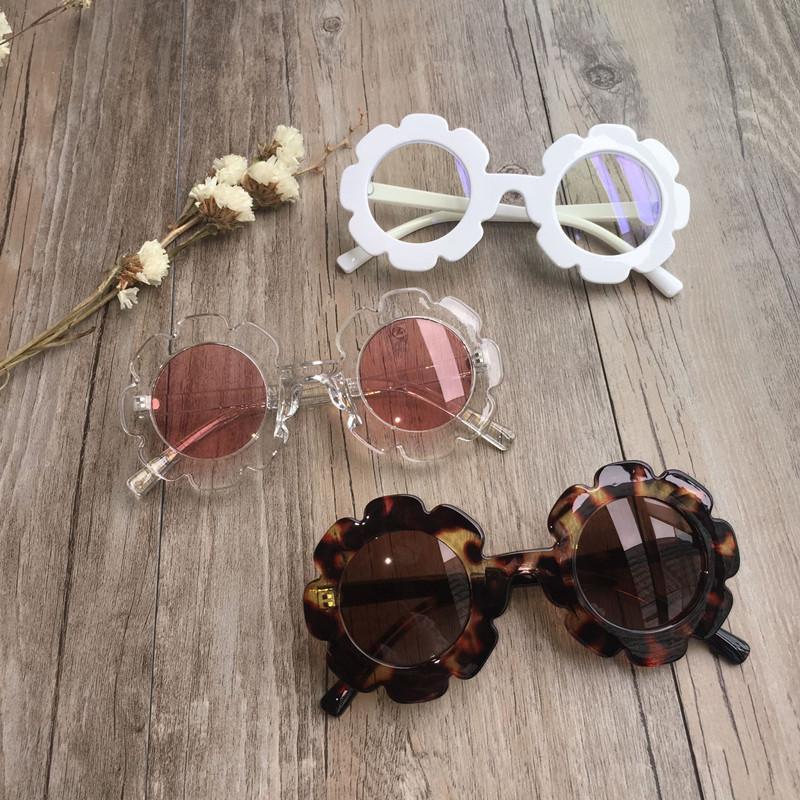 Vintage Çocuk Güneş Çocuk Güneş Gözlükleri Yuvarlak Çiçek Bebek Çocuk UV400 Spor Güneş Kız Erkek