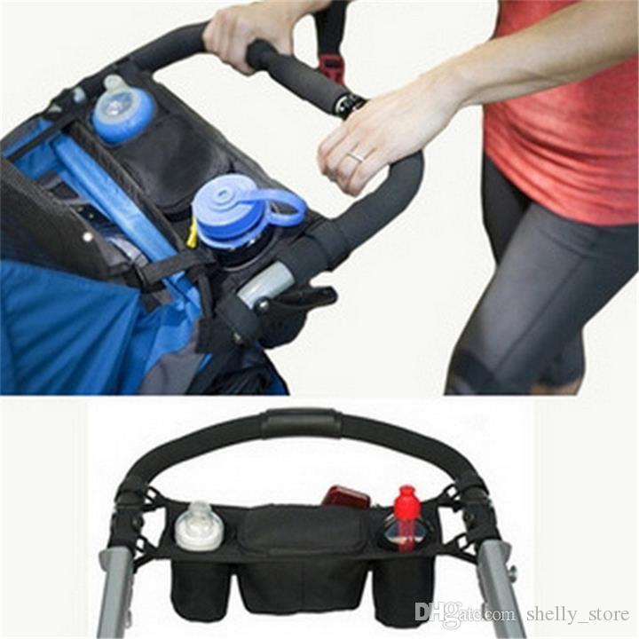 유모차 버기 유모차 액세서리 휠체어 가방에 유모차 주최자 아기 유모차 운송 병 컵 홀더 가방