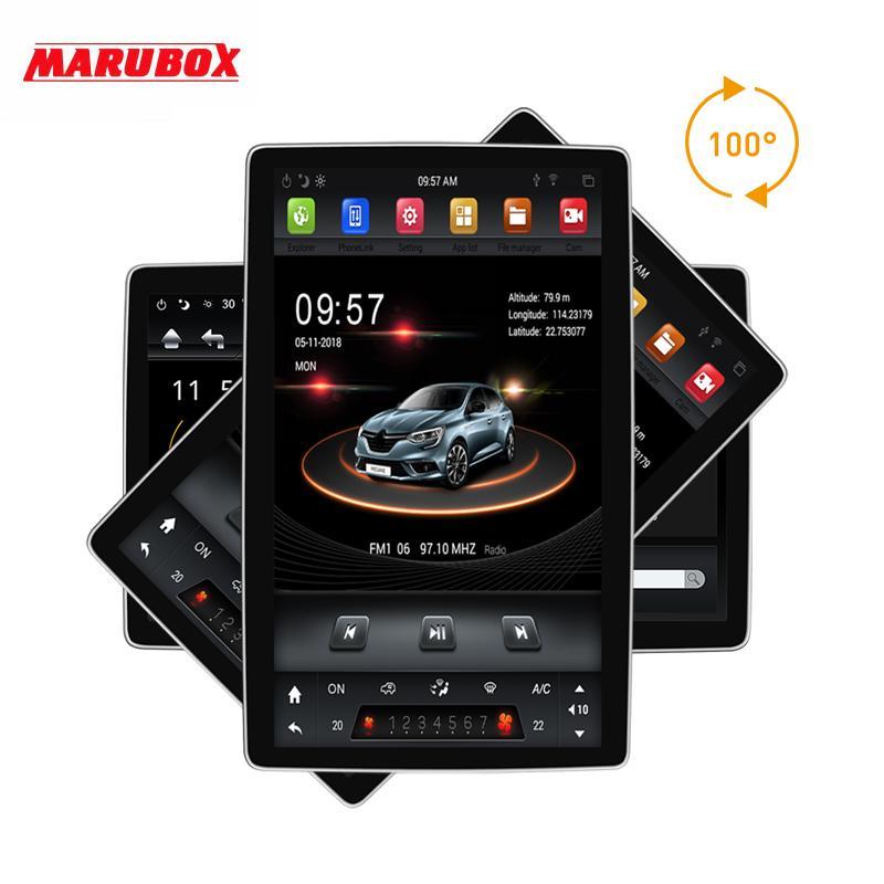 """MARUBOX KD1280, 12.1"""" unidad principal PX6 universal 2 din 8 Core Android 8.1, 4 GB, 32 GB, navegación GPS, radio estéreo, Bluetooth para el coche dvd"""