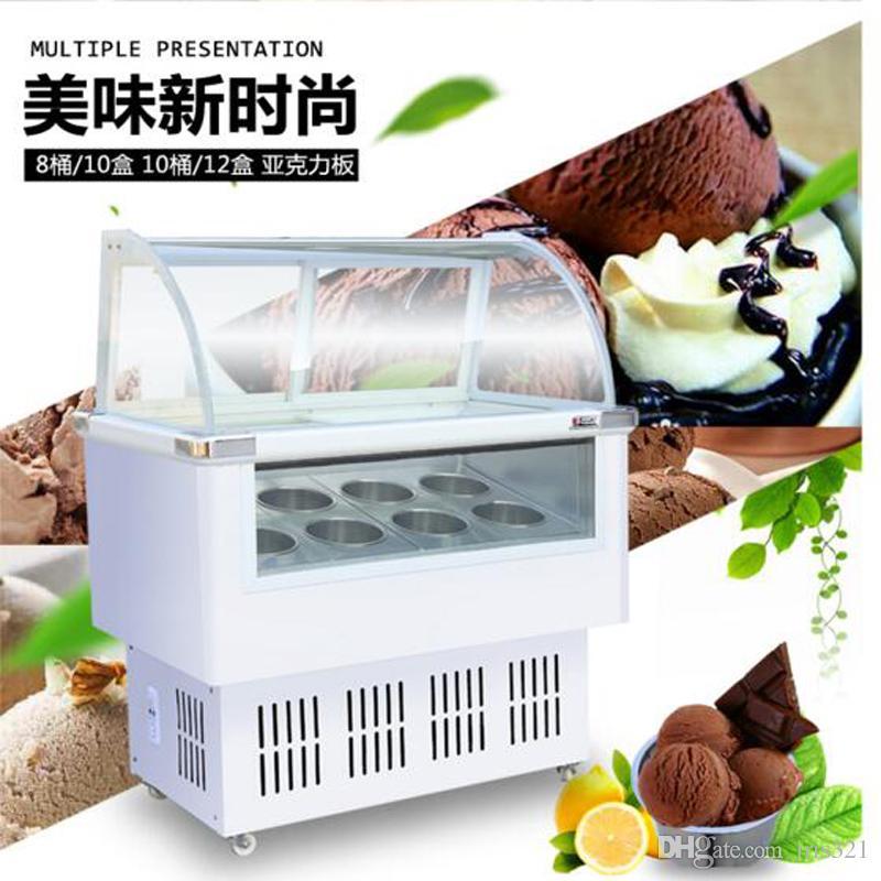 10 баррелей / 14 коробок горячее надувательство 220v gelato Ice Cream Display Freezers showcase Gelato showcase display cabinet