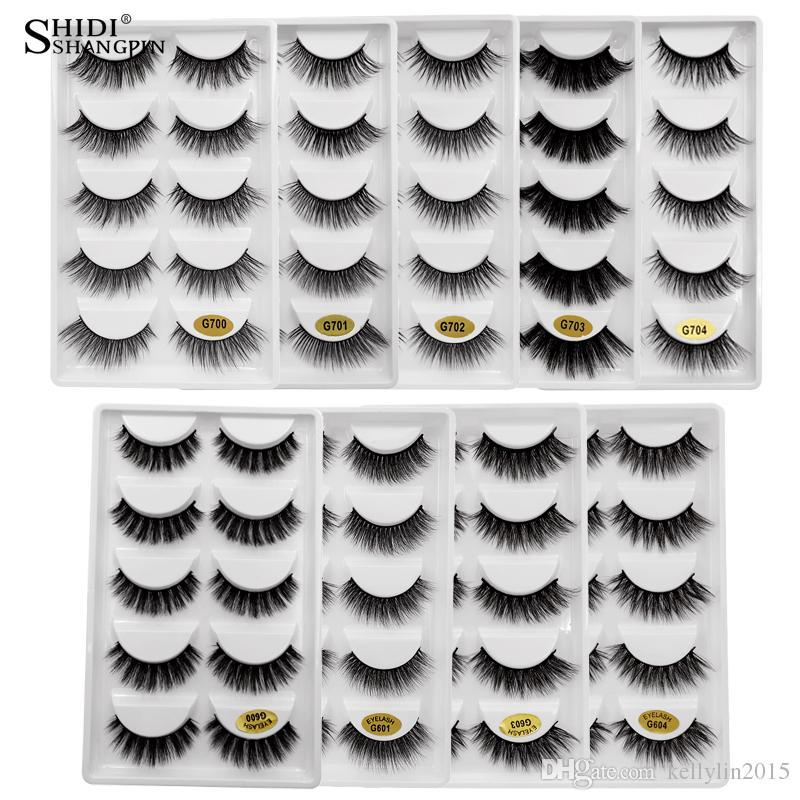 3D Mink Ciglia 5 paia Ciglia finte naturale lungo Spesso 3d visone Lashes fatta a mano le estensioni del ciglio di trucco riutilizzabili Eye Lashes