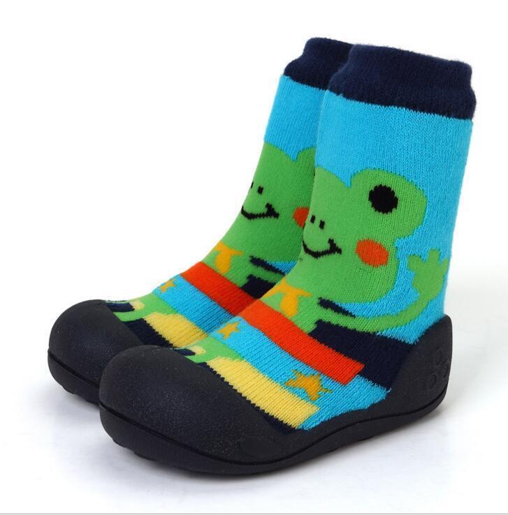 2018 New Attipas Same Design Girl Boy Newborn Baby Moccasins Enfant Shoes Socks Rubber Sole Kids Boots Y190529