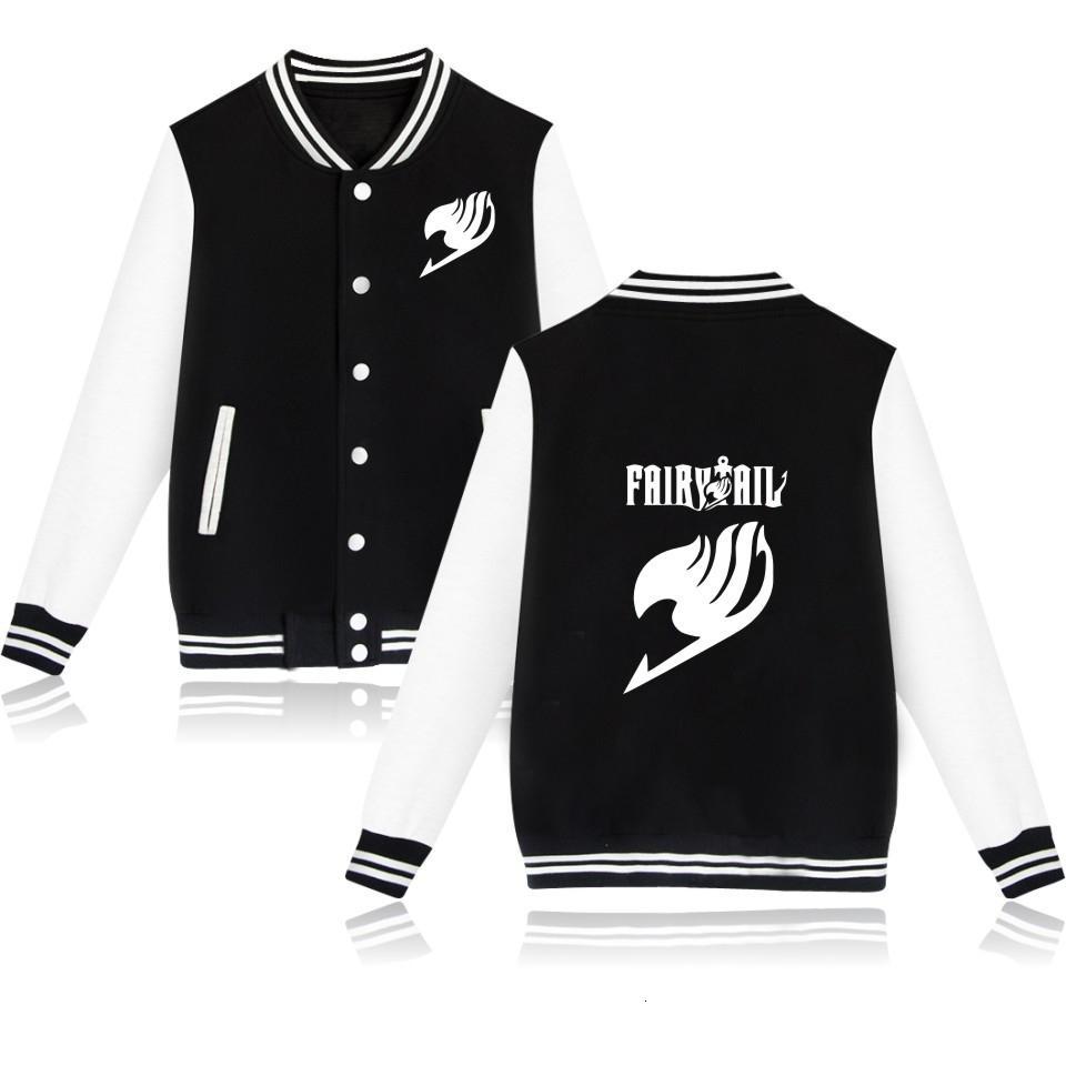 2019 Fairy Tail streetwear Baseball Jacket plus size tops outwear Sweatshirt anime long sleeve coat men women coats and jacketsMX191011