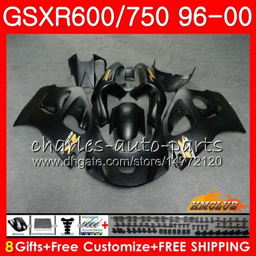시체 Suzuki Matte Black Srad GSXR 750 600 GSXR-600 GSXR750 96 96 96 96 96 99 00 1hc.8 GSX-R750 GSXR600 1996 1997 1998 1999 2000 Fairing Kit