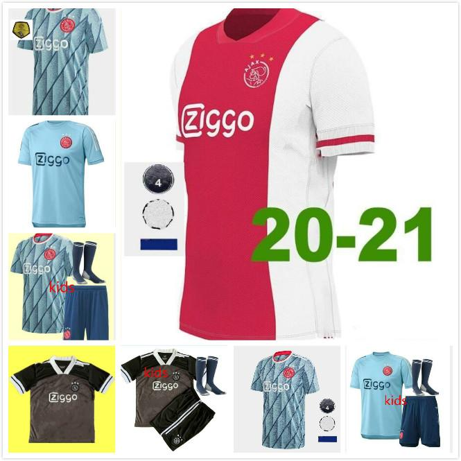 20 21 Ajax Retro Soccer Jerseys # shirt 21 DE JONG 2020 ajax 2021 # 10 TADIC # 4 DE Ligt # 22 ZIYECH hommes uniformes de football