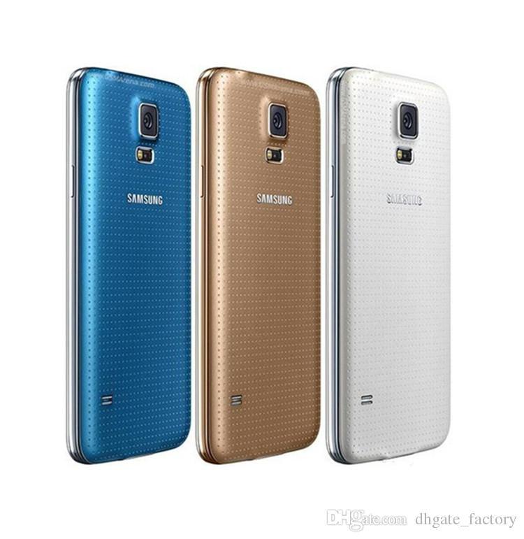 Reacondicionado original Samsung Galaxy S5 i9600 G900F G900V G900A G900T G900V con batería original Quad Core 2GB / 16GB 4G LTE ATT T-mobile