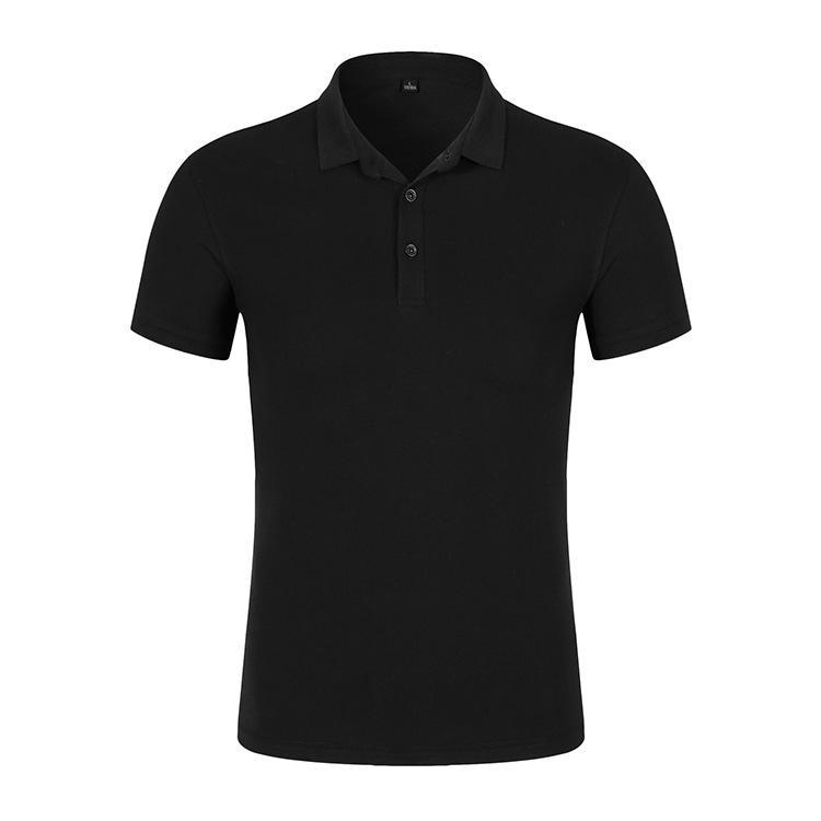7712 #32 220G High-End Half Cardigan Pure Cotton Mesh Polo Shirt Printed Words Printed Logo Business Attire Uniforms Work Clothe