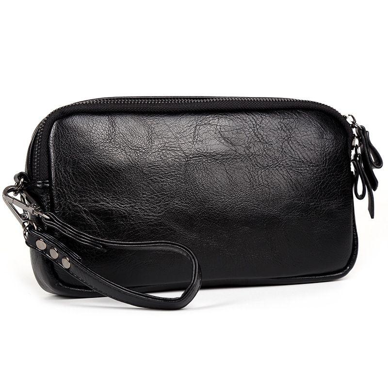 İş adamı el çantası Moda trendi PU poşetin cep telefonu çantası