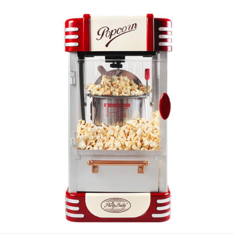 2020LEWIAO Tam Otomatik Retro Elektrikli Popcorn Popper Makinesi Ev Partisi Aracı 220V Pembe AB PlugRetro Ev Küçük Elektrikli Popcorn Maker Re
