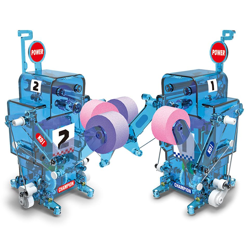 DIY Boxe lutador Self-Assembled Figuras robô eletrônico RC Brinquedos Educativos Kit remoto Partido Controle do boneco de acção 5-8 anos