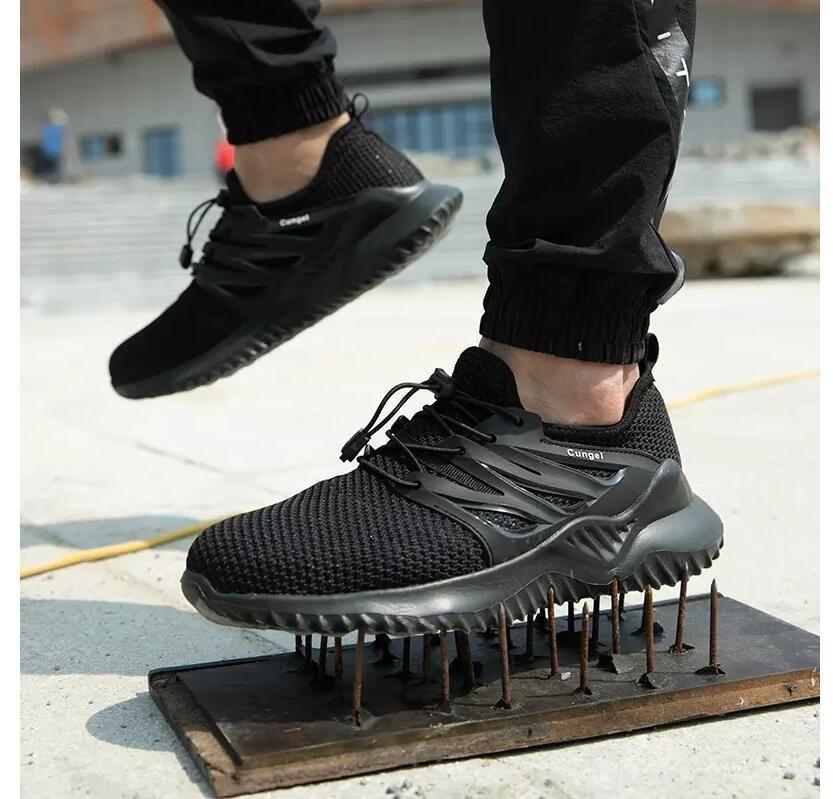 Fashion-de alta calidad Calzado de seguros de trabajo de los hombres Zapatillas de seguridad de seguridad Transpirable anti-aplastamiento resistente al pinchazo calzado para caminatas de senderismo botas