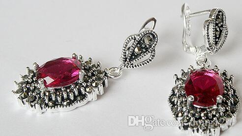 """925 pendientes de rosa facetada de plata esterlina caliente 11/2 """"el mejor regalo"""