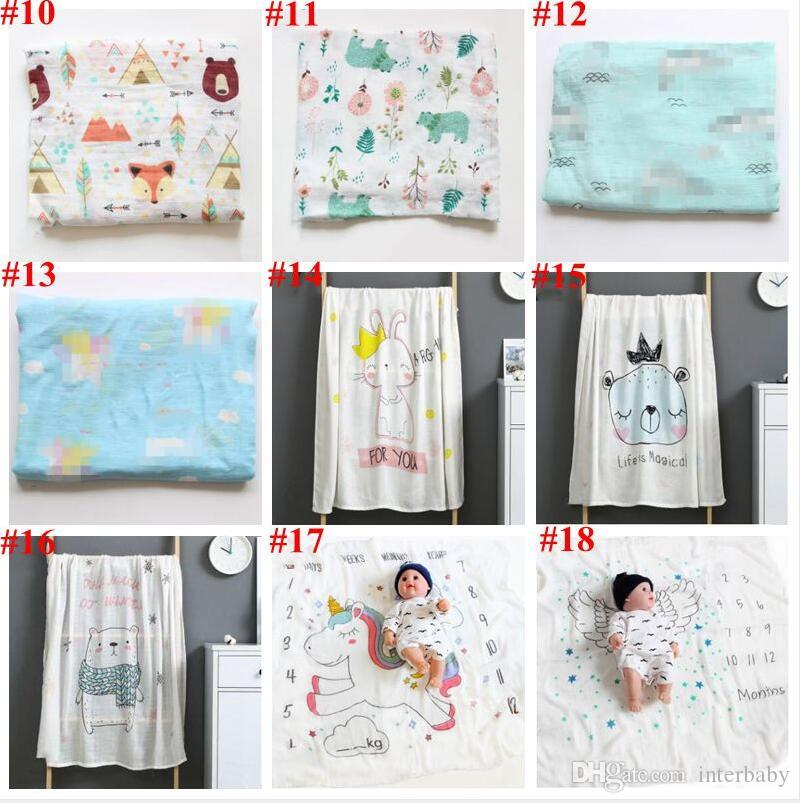 Baby Wraps Parisarc Bamboo Cotton Bath Towels Robes Newborn Printed Swaddle Gauze Summer Blankets Pram Stroller Cover Nursery Bedding A5837