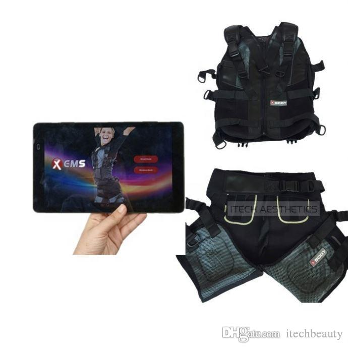 wireless portable muscle stimulator ems training equipment ems slimming system beauty machine with app tablet xems