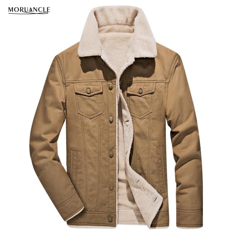 Moruancle Новые зимние мужские теплые куртки-карго на флисовой подкладке для мужской верхней одежды Casaco Masculino Большой размер M-4xl T190827