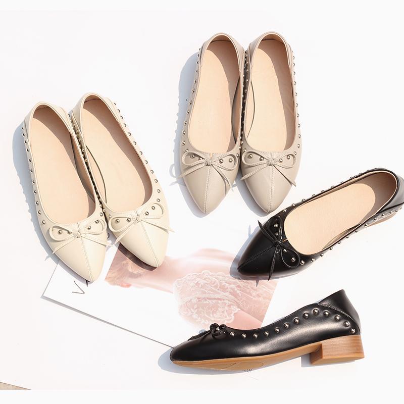 Kadınlar oxford Bahar ayakkabı kadının ayakkabı kadın oxfordlar bayanlar tek Ayakkabılar kayış 2020 yaz için hakiki deri makosenler