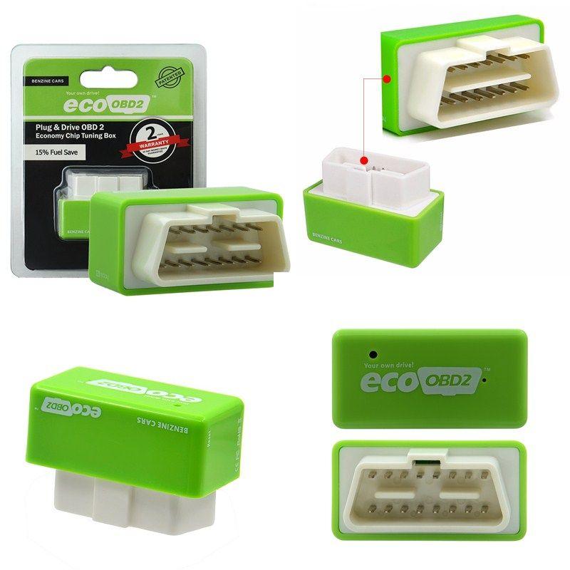 Motorista Nitro ECO Chip OBD2 EcoOBD2 Tuning Box Plug para BENZINE Carro Para Carros 15% de Economia de Combustível Mais Poder dropshipping