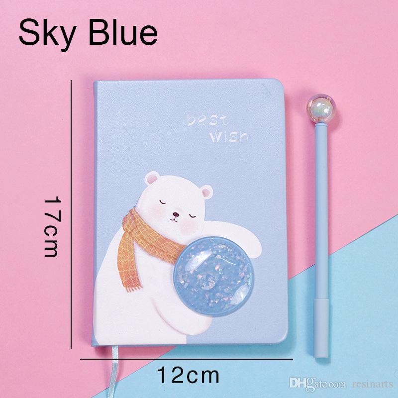 Star Rabbit Notebook,Ins Pink Girl Heart,Cartoon Bear Set Pens,Lovely Stationery,Simple Design,School Supplies,