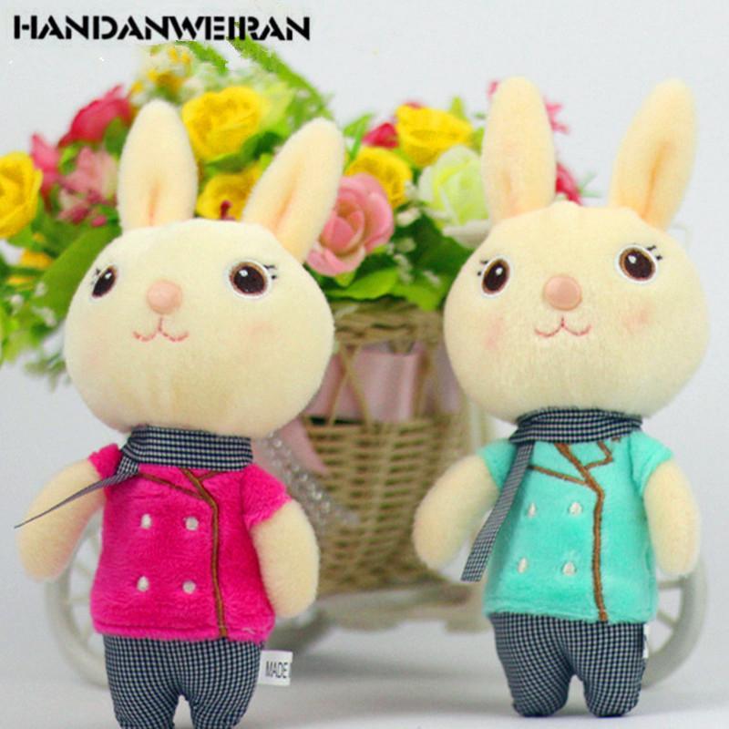 1pcs Kawaii felpa conejo de juguete pequeñas muñecas suave Hare juguetes de peluche del ramo de regalo de vacaciones pendientes PARA NIÑA regalo de Navidad 2019 CALIENTE