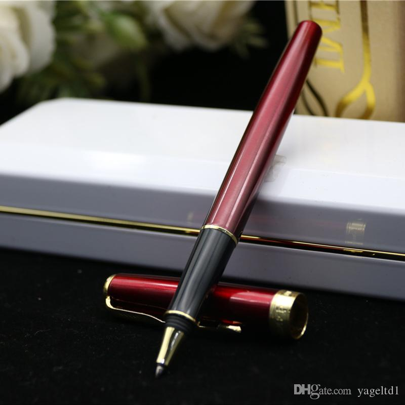 Parker Métal Argent Or Sonnet Rouleau Stylo moyen Nib 0.5 mm Signature Stylo à bille cadeau stylos fo écriture École Bureau fournisseurs Papeterie