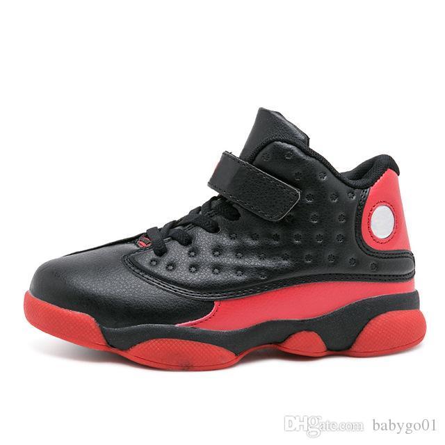 أفضل هدية للأطفال J13 أحذية كرة السلة للأطفال حجم اليورو 28-35 الاحذية الفتيان عدم الانزلاق الشباب الاحذية