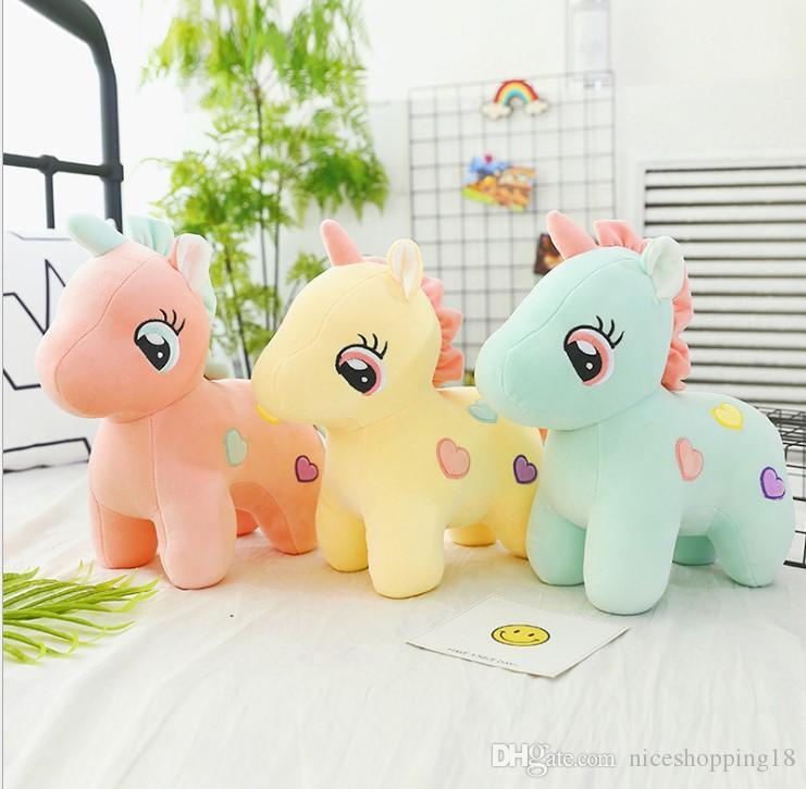 Nicegift 25cm Stuffed animal cute doll kawaii cartoon unicorn plush toy child gift toy child baby birthday gift