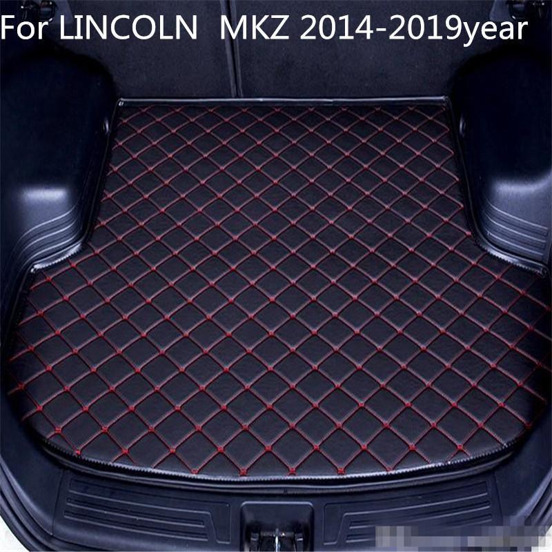 ل لينكولن MKZ 2014-2019year S Car Anti-skid Trunk Matter Waterst Sater Search Matter Flat Pad