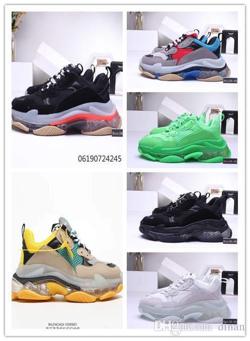 Neue heiße FW Retro Triple S Sneaker Herrenmode Vintage Kanye West Alte Opa Trainer Luxus Designer Herren Damen Freizeitschuhe Größe 36-45