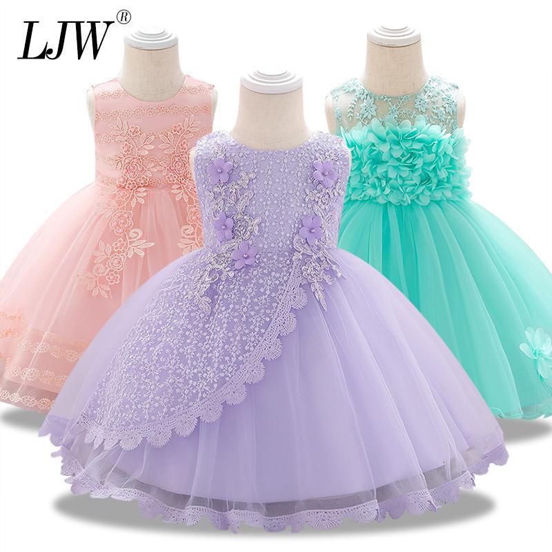 1 anos festa de aniversário vestido de Lavagem das meninas infantis Baby Girl traje Bebés Meninas roupas para tutu verão vestido de princesa CX200611