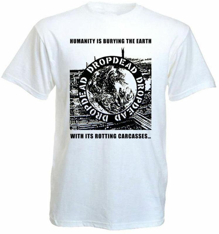 T-shirts Hommes Dropdead V5 T-shirt White Hardcore Punk Grindcore Toutes les tailles S-5XL pour les jeunes Milemélence The Old Tee shirt