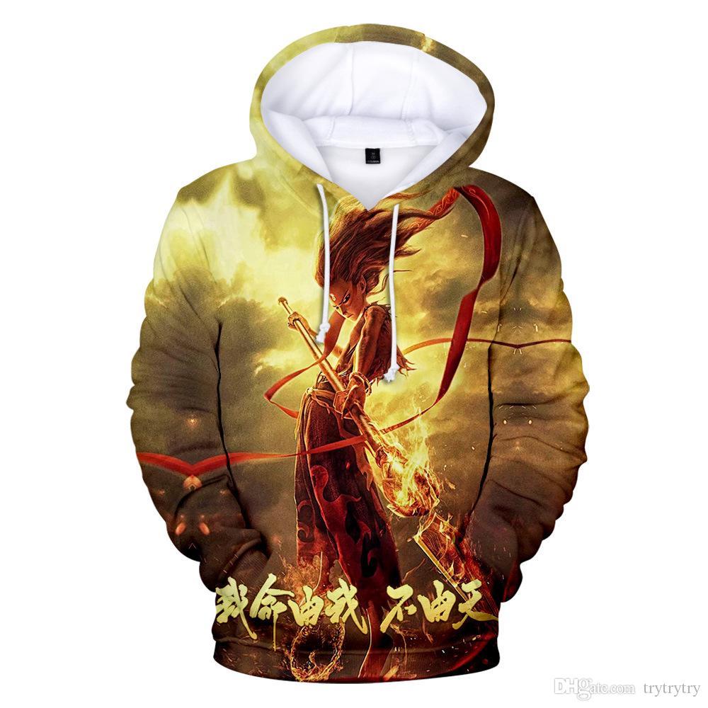 Popüler Moda Sıcak NE ZHA 3D Hoodies erkek Erkek Kadın Tişörtü tops Hoodie 3D Hoodies kızlar NE ZHA Rahat Yeni kapüşonlu Kazaklar Ypf349
