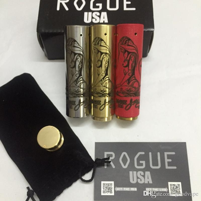 ROGUE MOD клон механическая электронная сигарета VAPE много стилей красивый цвет изысканный узор 24 мм Диаметр высокое качество DHL бесплатно