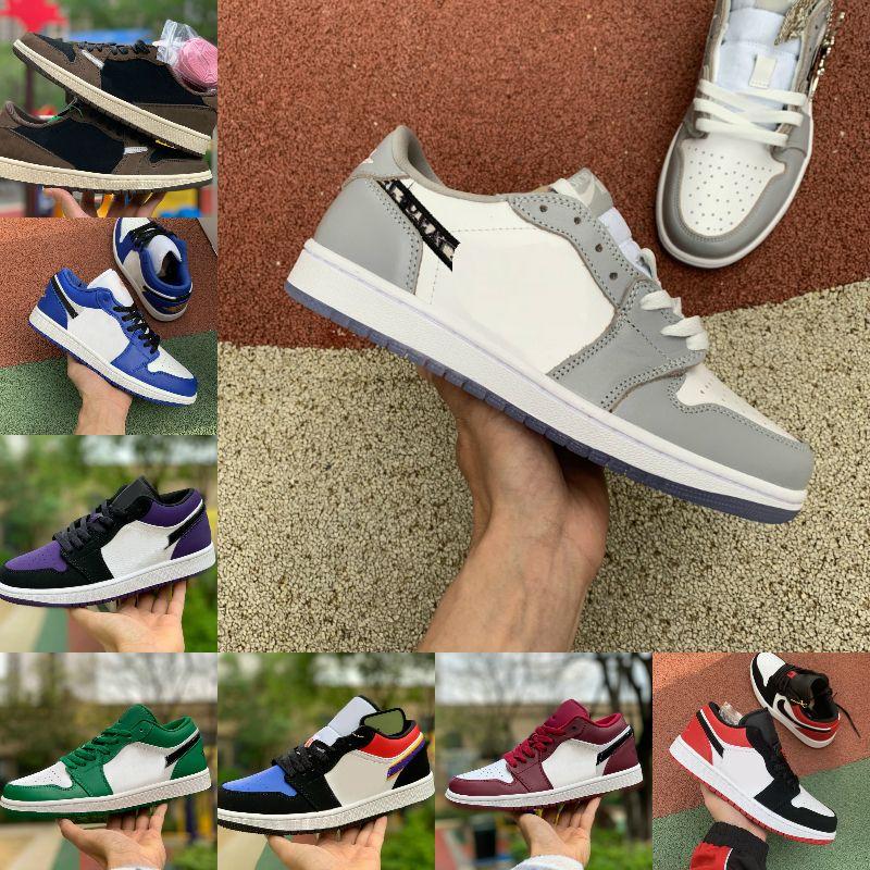 2020 zapatos de baloncesto de Jumpman 1 para hombre bajo la luz tropical Travis UNC París Ember Glow Retroes dedo del pie Bred 1s Mujeres Trainer Dunk Zapatos del monopatín