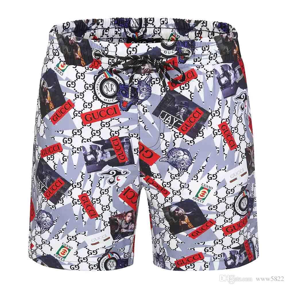 S di progettazione estate dei pantaloni di bicchierini degli uomini di Fashion 4-stampato a colori con coulisse Shorts 2019-2020 Pantaloni di lusso di sport allentato Uomo