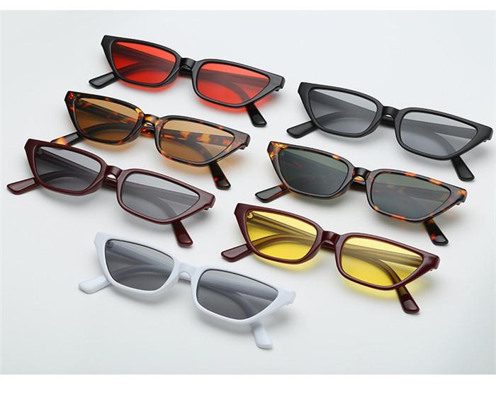 15 style rétro Cat Eye lunettes de soleil Femmes Petit Rectangle Cateye lunettes de soleil Mode Marque Designer Lunettes De Soleil Pour Femmes Vintage Shades bldz002