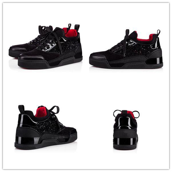 Tasarımcı Sneakers Dikenler Aurelien düz Eğitmen Kırmızı Alt erkek bayan ayakkabı siyah Aurelien Sneakers Casual Açık Trainer Mükemmel Kalite # 05