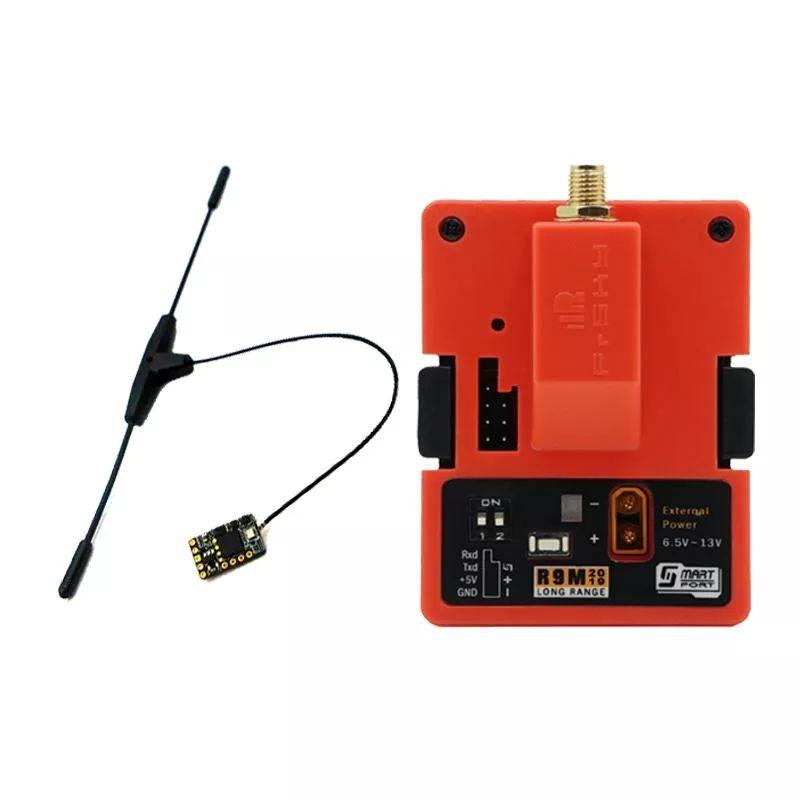 FrSky R9M 2019 900MHz Long Range Transmissor Módulo R9MM Receiver w / T Antena Combo