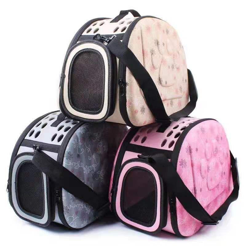 Soft EVA Large Handbag Foldable Outdoor Portable Breathable Pet Carrier Flight Case Cat Dog Air Box Pets Supplies HA164