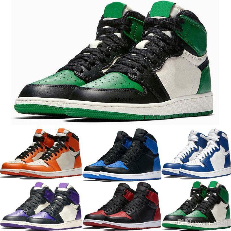 7-13 para hombre Top 3 Alto 1 OG zapatos de baloncesto de reventa Negro Toe Banne mediados Chicago pista roja 1s UNC hombre del diseñador Formadores las zapatillas de deporte