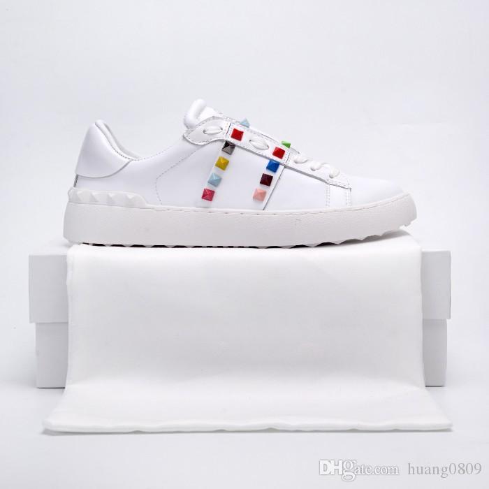 Moda tasarımcısı bayan ayakkabıları lüks rahat tasarımcı açılış ayakkabı beyaz dikiş erkekler ve kadınlar rahat ayakkabılar