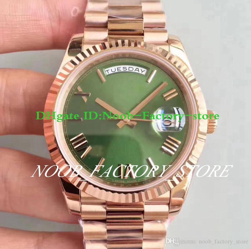 5 컬러 슈퍼 공장 시계 스위스 ETA 3255 무브먼트 럭셔리 남성 로즈 골드 228235 자동 DAYDATE의 40mm 로마 대통령 시계 원래 상자