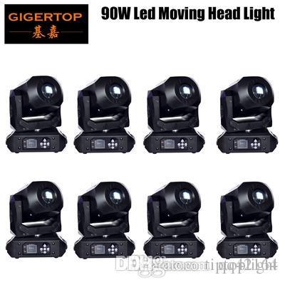 Nuovo 90W LED Spot Moving Head luci DMX512, Led Moving Head Gobo prisma Funzione elettronico di messa a fuoco, DJ Spot Light mini dj diso in movimento
