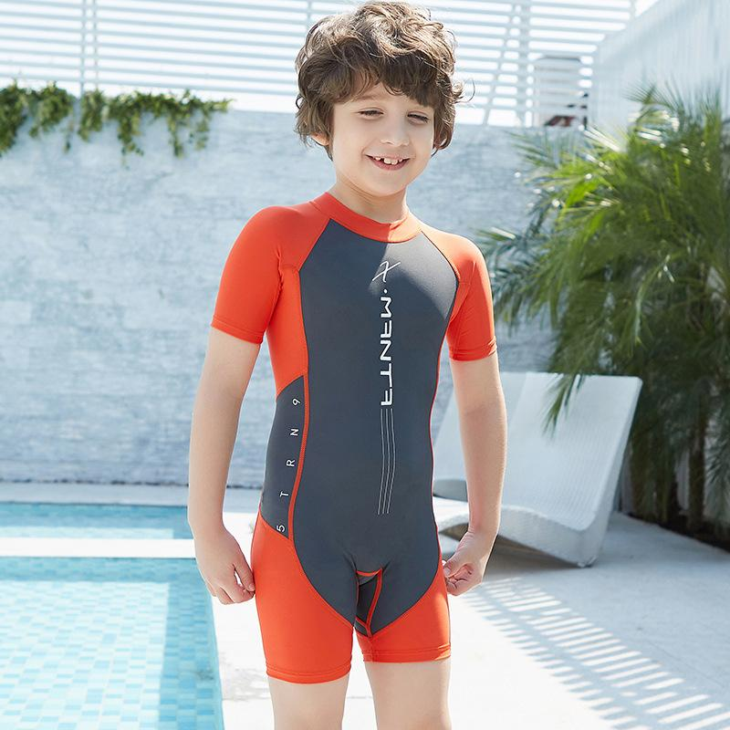 2021 Short Sleeve Back Zipper Boys Swim Suits Swimming Suit For Kids Girls Swimwear  Boys Swimsuit One Piece Children Bathing Suit New From Annuum, $16.41    DHgate.Com