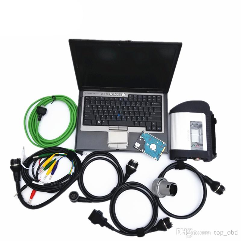 MB Star C4 sd connect with Newest V2019.05 ssd or hdd full set in d630 4g laptop Ready to Use for mb cars trucks fast shipping