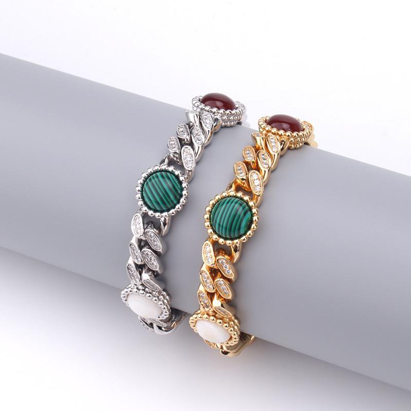 10 milímetros Hip Hop jóias de ouro Cor Prata Ice Fora Bling CZ Pulseira Colar Chain Link para Mens Jewelry