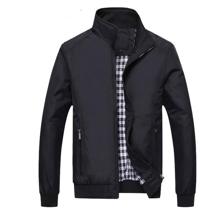 Nuevo 2019 Hombres y abrigos Hombres Chaqueta Moda Casual Loose Mens Jacket Ropa deportiva Bomber Mens Jackets Plus Size M- 5XL