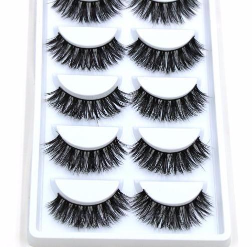 5 Pairs Handmade Cotton Stalk Water False Eyelashes Cross Dense Natural Eye Lashes Stage Makeup False Eyelashes
