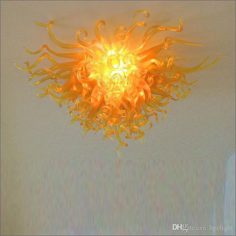 İtalyan tasarımcı kolye lambaları avrupa dale chihuly tarzı el üfleme murano cam avizeler aydınlatma sanat tasarım buzlu