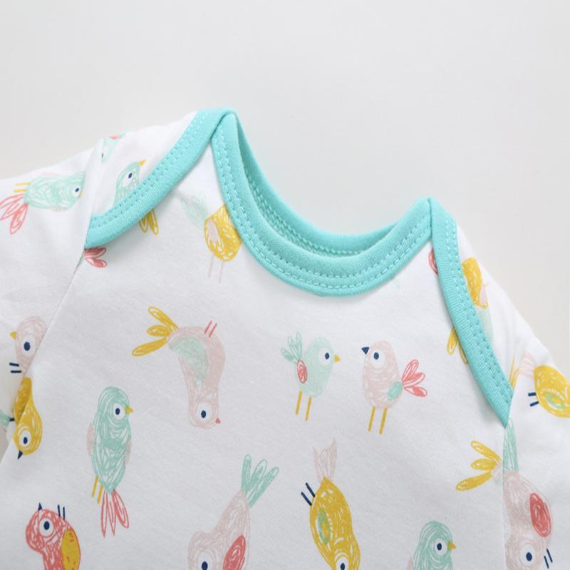 de manga corta o-cuello de ropa para bebés de 2.019 monos recién nacidos del verano de la ropa de la muchacha del muchacho 5pcs / set pequeño cuerpo del niño del algodón del juego