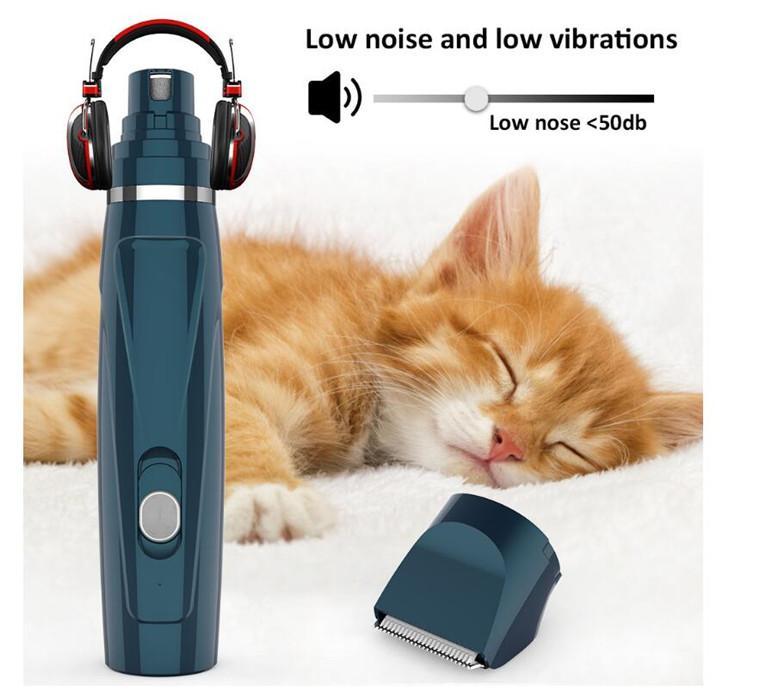 الحيوانات الأليفة التلقائية الأظافر ملمع الأظافر الكهربائية ملمع القط الكلب اثنين في واحد مقص الأظافر كليبرز الحلو